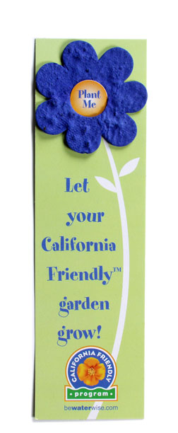 Custom recyclable bookmark flower