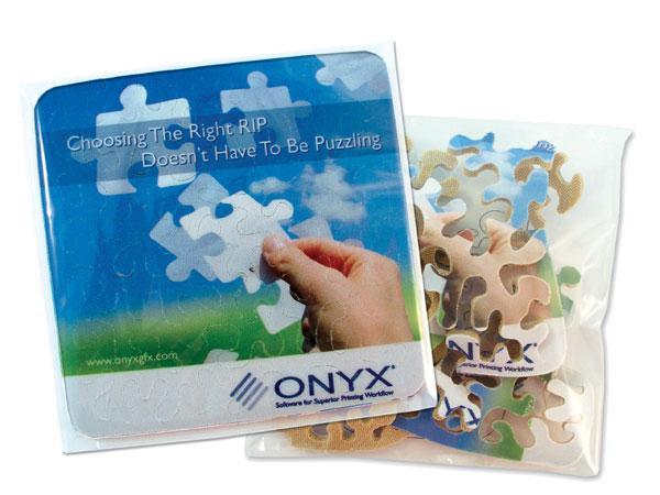 Logo puzzle mouse pad