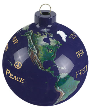 Custom Eco Holiday Ornament-525-Peace