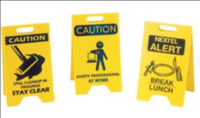 Safety Signs for desk