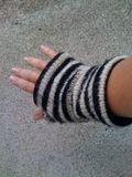 Custom fingerless gloves striped