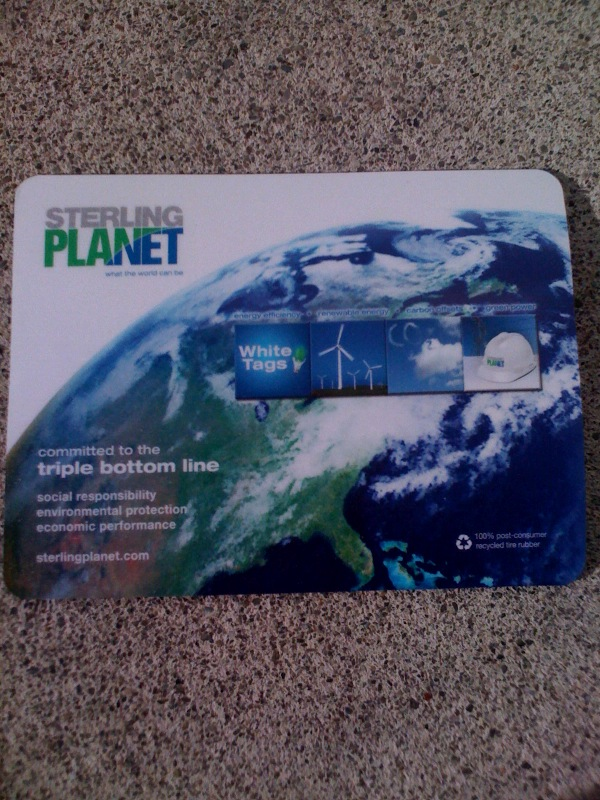 Recycled Mouse Pad Energy Promotional Giveaway