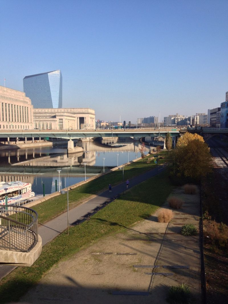 Philadelphia Bike Run Trail along Schuylkill River