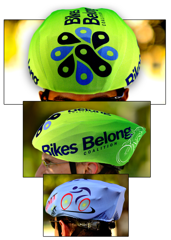 Customized Bike helmet covers AbsolutePromo