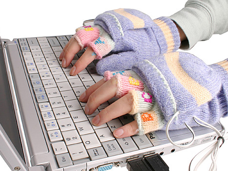Logo USB heated gloves AbsolutePromo