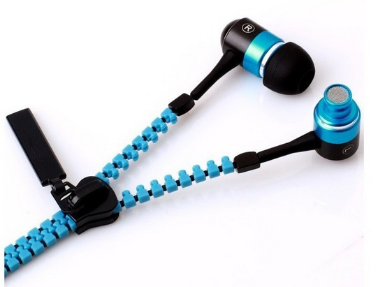 AbsolutePromo zipper ear buds with logo