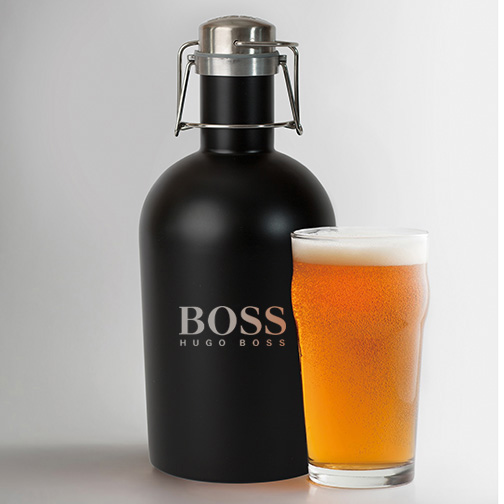 Stainless steer Growler with logo AbsolutePromo