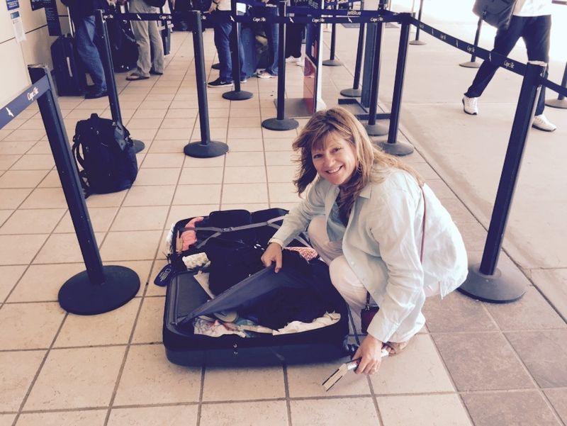Suitcase weight shuffle