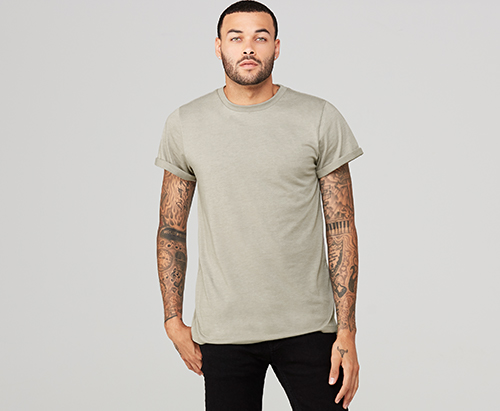 Rolled up cuff t shirt for branding  Absolutepromo