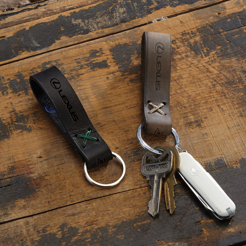 Guys custom leather key chain carabiner  AbsolutePromo
