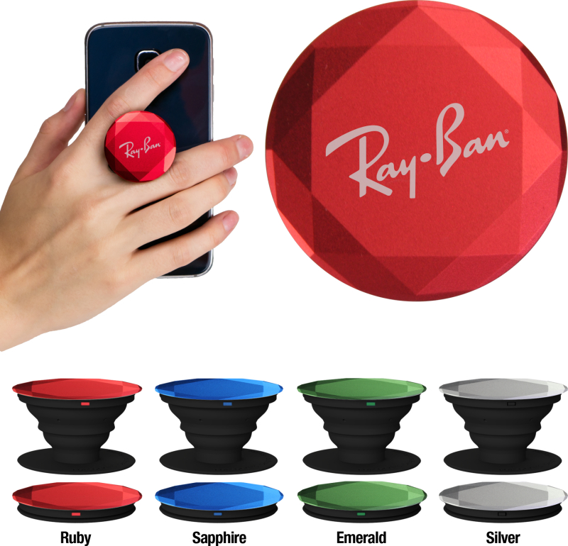 Custom pop sockets diamond style with logo AbsolutePromo.com
