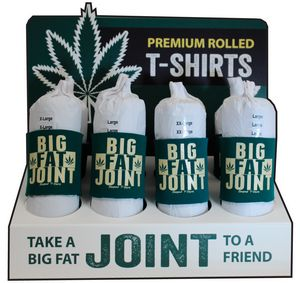 Joint rolled custom t shirt display dispensary retail  AbsolutePromo.com